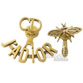 茱麗葉精品【全新現貨】Christian Dior J'ADIOR 復古不對稱蝴蝶造型耳環.金
