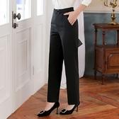 簡約金屬釦黑色OL西裝長褲 [9S187-PF]美之札