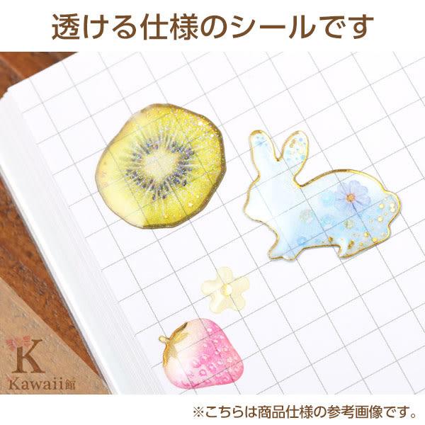 Hamee 日本 Luna tears 手工DIY日記 立體金蔥 半透明 造型貼紙 (天空) 635-210187
