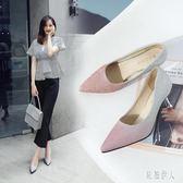 大碼細跟高跟鞋 婚鞋女新娘鞋伴娘亮片銀色水晶少女細跟單鞋漸變色高跟鞋 qf20183『紅袖伊人』