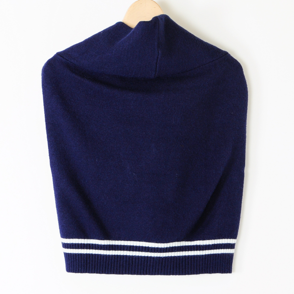 【MASTINA】針織綁帶披肩-藍 好康優惠