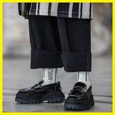 2018新款英倫復古日系厚底原宿樂福鞋一腳蹬牛津皮鞋淺口單鞋女鞋