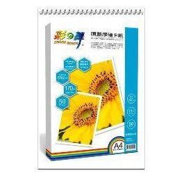 彩之舞 噴墨厚磅卡紙 170g A4 50