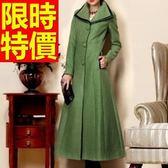 風衣大衣 長版-熱銷羊毛美式溫暖風衣女毛呢外套2色62v49[巴黎精品]