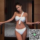 泳衣女韓國分體三角比基尼小胸聚攏性感三點式泳裝【海闊天空】