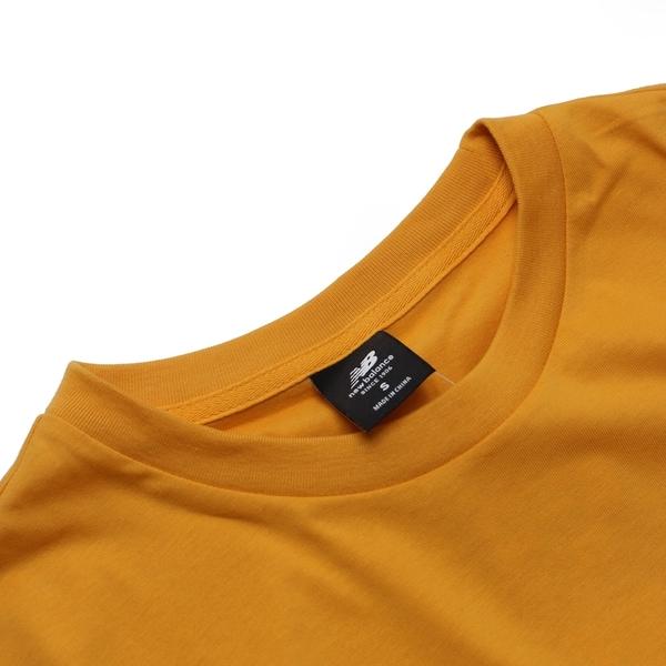 NEW BALANCE NB 短袖 黃 左胸類校徽 短T 男 (布魯克林) MT03517ASE