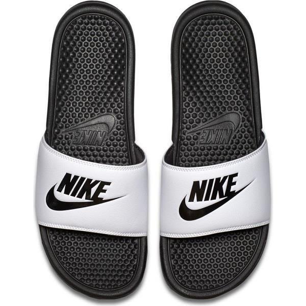 ★現貨在庫★ Nike Benassi JDI 男鞋 女鞋 拖鞋 休閒 海綿 白 黑 【運動世界】343880-100
