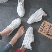 女鞋 厚底小白鞋女內增高新品慢跑鞋免運百搭正韓休閒學生街拍女板鞋子女
