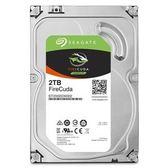 【綠蔭-免運】Seagate火梭魚FireCuda 2TB+8G SSD 3.5吋固態混合硬碟(ST2000DX002)
