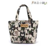 手提包 包包 防水包 雨朵小舖 防水包 M017-004 小可愛手提包-白呆呆看鏡頭(黑白)02608 funbaobao