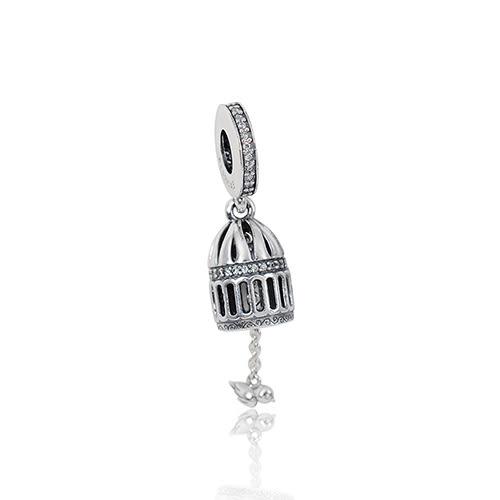 Pandora 潘朵拉  自由之鳥鑲鋯 垂墜純銀墜飾