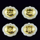 金鑲玉項鍊 和闐玉吊墜-精緻鎖片生日母親節禮物男女飾品4款73gf48[時尚巴黎]