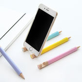 【00102】 可愛純色三角筆桿中性筆 0.5mm 可當手機支架 黑色 學生辦公文具
