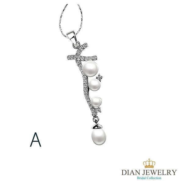 【DIAN 黛恩珠寶】母親之愛 珍珠造型CZ鑽項鍊