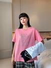 圓領短T 鉆石燙鉆短袖T恤女ins潮韓版寬松百搭半袖上衣MA119 胖妹大碼女裝