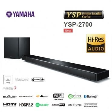 (結帳優惠)YAMAHA家庭劇院聲棒 Soundbar(YSP-2700)