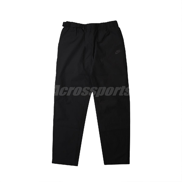 Nike 長褲 NSW Premium Essentials Woven Trousers 黑 白 男款 防風 專業 運動休閒 【ACS】 CZ9884-010