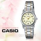 CASIO 卡西歐 手錶專賣店   LTP-V001SG-9B 指針女錶 不鏽鋼錶帶 黃色錶面 防水 LTP-V001SG