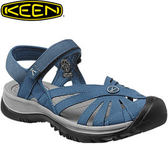 丹大戶外【KEEN】美國女款 ROSE SANDAL 專業運動織帶護趾涼鞋 151-1012546 藍/灰