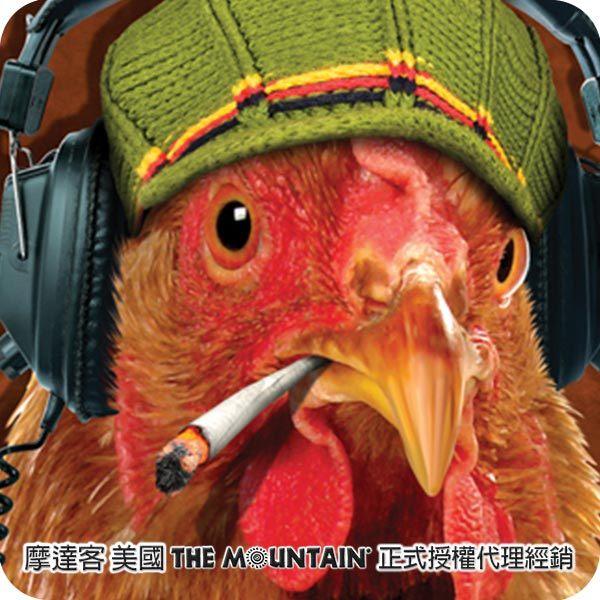 【摩達客】(預購)美國進口The Mountain DJ雞臉 純棉環保短袖T恤(10415045066)