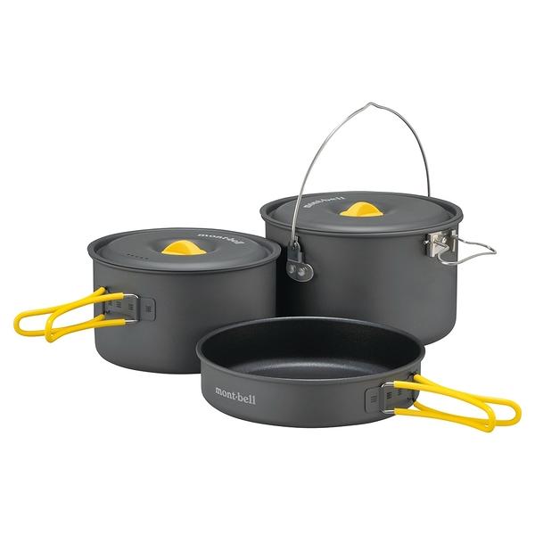 [好也戶外]mont-bell Alpine cooker16 + 18鋁合金鍋具三件組 NO.1124691