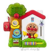 〔小禮堂〕麵包超人 洗澡玩具《房屋.樹.朋友.盒裝》適合1.5歲以上孩童4971404-31226