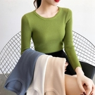 2020秋冬新款百搭修身短款內搭毛衣女緊身長袖洋氣打底針織衫上衣-完美