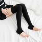 日系棉質踩腳襪套護膝保暖及膝襪女襪