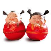 【金石工坊】囍結緣-喜氣洋洋招財童子迷你不倒翁(高5CM)中國風  婚禮擺飾 結婚禮物 居家擺飾