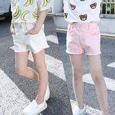 童裝夏裝新品女童水洗粉色、白色、黑色牛仔短褲中大女童熱褲     韓小姐の衣櫥