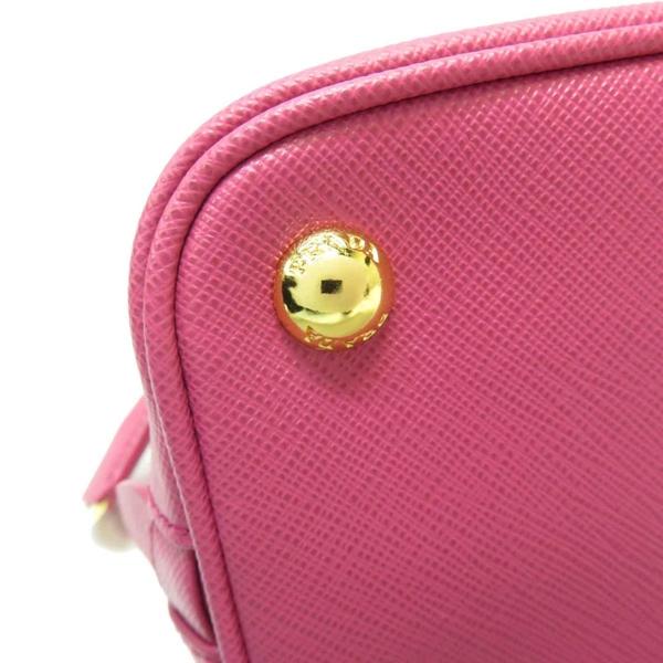 PRADA 普拉達 粉色防刮牛皮手提肩背兩用包 Mini Promenade Bag 1BA838 【BRAND OFF】