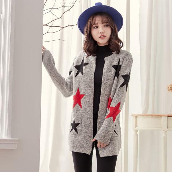 中長款加厚寬鬆長袖毛衣外套 [星星] 三種款式售