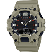 CASIO 卡西歐 10年電力城市旅行手錶-灰 HDC-700-3A3 / HDC-700-3A3VDF
