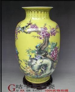 景德鎮陶瓷器花鳥花瓶