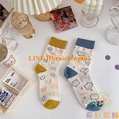 3雙裝 夏季薄款中筒襪子女i韓國日系長筒棉襪【奇妙商舖】