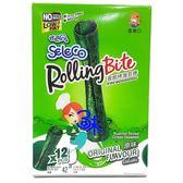 (泰國零食)喜樂口香脆烤海苔捲-原味 1箱42公克x12盒【8852116805220】