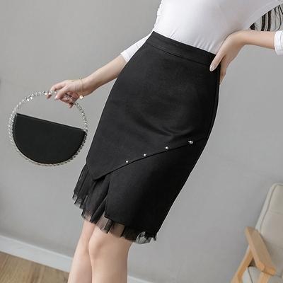 包臀半身裙S-3XL1103不規則時尚彈力包臀裙顯瘦高腰a字裙短裙女半身裙D734快時尚