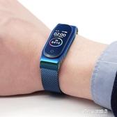 手環帶-米布斯 適用小米手環3/4腕帶金屬磁吸米蘭尼斯不銹鋼錶帶替換帶 現貨清倉11-11