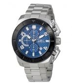 瑞士Invicta Pro Diver 潛水員系列 藍色碳纖維錶盤 三眼男錶 23405 瑞士錶 計時碼表 男士手錶