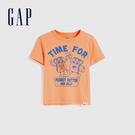Gap男幼童 創意字母圓領短袖T恤 577622-冰橘色