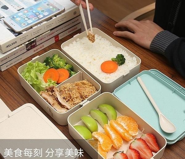 便當盒飯盒專用長方形分格便當盒上班族送餐具套裝 萬聖節狂歡