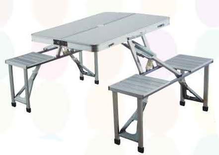 【南洋風休閒傢俱】鋁/塑料手提箱桌子/戶外折疊桌椅餐桌/燒烤桌/鋁桌折疊桌/便攜式擺攤桌(526-1)