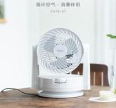 家用空氣循環扇小型臺式電風扇靜音渦輪對流搖頭扇CA15-X1YYJ 夢想生活家