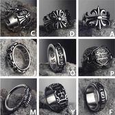 鈦鋼戒指霸氣食指單身扳指男士尾戒指環