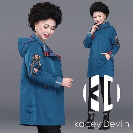 氣質風衣女中長款小個子春秋百搭英倫風薄款外套【Kacey Devlin】
