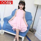 女童夏裝2018新款大童裝韓版洋氣連身裙無袖公主裙夏季潮淑女裙子 至簡元素