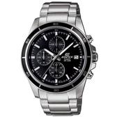 【CASIO】 EDIFICE 大方低調賽車錶款系列指針腕錶-黑面(EFR-526D-1A)