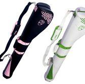 新款 高爾夫槍包 女士球包 繡花款GOLF球袋 女款球桿包 qf1458【黑色妹妹】