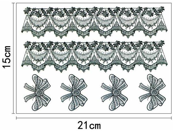 花臂紋身貼紙   蝴蝶結蕾絲   日韓系水轉印紋身貼紙 想購了超級小物
