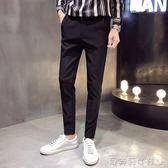 西裝褲西褲男夏季薄款休閒褲子男士西裝褲修身小腳發型師 貝芙莉